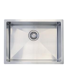 Kitchen Sink | Q4 Single Bowl600x450x250mm Deep | 304 S/Steel Radial Cnr Sink -Code: TKS-550R-1